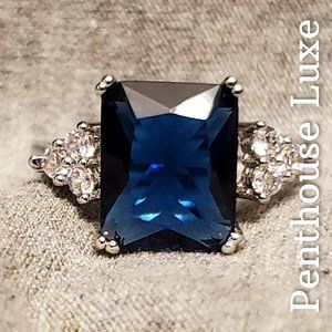 REAL Blue Sapphire 925 Sterling Silver Ring